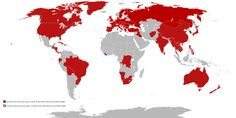 Countries that have ever been in state of war with Poland or the Poles fought.