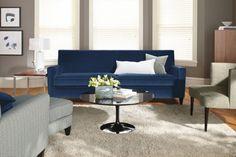 echo bravo charlie: Wanted: Blue Velvet Sofa.