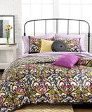 Mosaic Damask Bohemian Boho Reversible Twin Duvet Cover Set