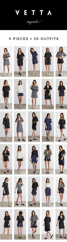 VETTA's versatile capsule collections mix and match to create 30 outfits. We make our clothing in responsible factories, from sustainable fabrics. 30 Outfits, Capsule Outfits, Fashion Capsule, Fashion Outfits, Women's Fashion, Capsule Wardrobe Essentials, Fashion Essentials, Slow Fashion, Trendy Fashion