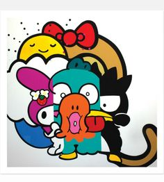 By the artist POSE: limited edition, signed and numbered prints featuring sweet #Sanrio characters