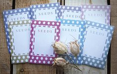 Gardens Illustrated DIY seed packet templates
