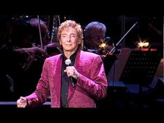 "Barry Manilow singing ""Stay"" in the O2 Arena in London."