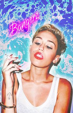 Miley Cyrus Bangerz Art Print