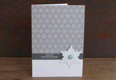 www.zeit-zum-basteln.de - schlichte Karten mit SU Designerpapier und gestanzten Schneeflocken