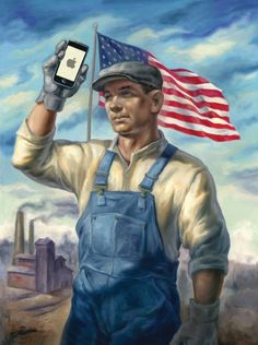 Political candidates opposed to free trade say Apple should make phones in the United States. Let's see what that would look like.