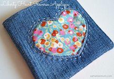 Tutorial: Reverse applique heart needle book