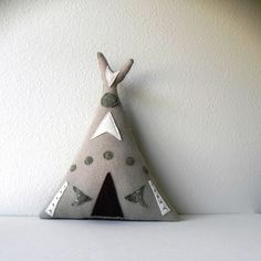 the teepee plush wool pillow