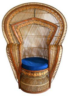 Vintage wicker throne chair from Erin Wasson! Wicker Peacock Chair, Wicker Chairs, Wicker Baskets, Woven Baskets, Sunroom Furniture, Wicker Furniture, Outdoor Sofa Sets, Throne Chair, Wicker Mirror