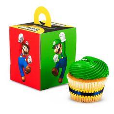Super Mario Bros. Cupcake Boxes - Includes (4) cupcake boxes.