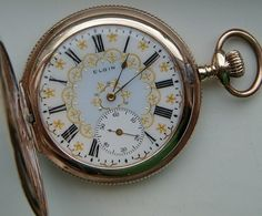 Elgin vintage pocket watch, hunting case