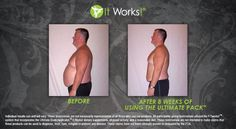 ItWorks! results after 8 weeks of using the Ultimate Pack #itworks #getfine #healthyliving