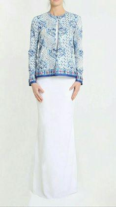 Batik Fashion, Ethnic Fashion, Hijab Fashion, Fashion Outfits, Kebaya Dress, Eid Outfits, Batik Dress, Dress With Cardigan, Kaftans