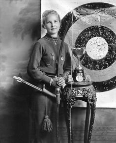 Sept. 21, 1935: Patricia Clare Flynn of Erie, Pa., traveled to Toronto and conquered with bow and arrow, winning the International and North American Junior Girls' Title. Photo: Times Wide World Photo