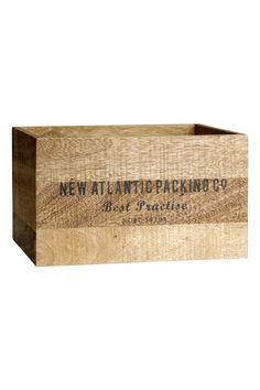 Caja de madera   H&M
