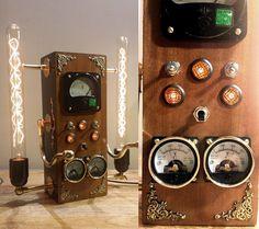 Steampunk Lamp - Luminographe number 9 | par P-J Tardiveau