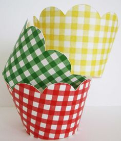 Primary Gingham Wrappers by outsidetheboxdessert on Etsy, $10.00