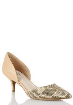 2c8716da4fc Cato Fashions Striped Open Heels  CatoFashions