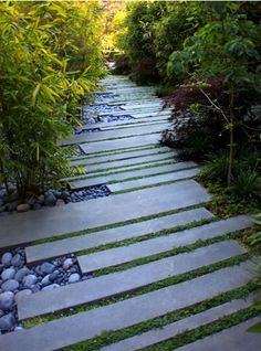 Contemporary stone path.