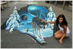 Amazing 3D street painting...