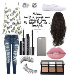 """""""🍍"""" by eminemily01 on Polyvore featuring Trish McEvoy, Native Union, Bling Jewelry, Boohoo, Current/Elliott, Vans, Anastasia Beverly Hills, Lime Crime and Urban Decay"""