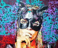 Pionnière du pochoir en Espagne, la street artist espagnole BTOY s'empare depuis plus de quinze ans des murs du monde entier avec de magnifiques portraits de femme