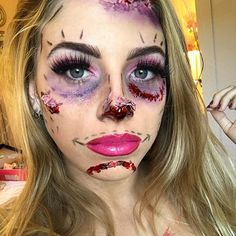 31 Days of Halloween Makeup: Day 28 Plastic surgery mishap _____ #31daysofhalloween #halloween #halloween2016 #halloween16 #halloweencostume #31daysofhalloweenmakeup #surgery #sfx #fx #specialeffectsmakeup #mua #sfxmakeup #fxmakeup #sfxmua #motd