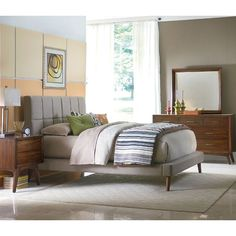 This bedroom set's modern take on a mid-century inspired design is sure to make it a classic addition to your home.