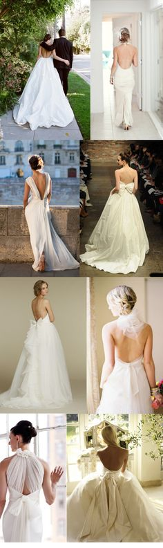 Wedding Trends: The Backless Wedding Dress » Inspiring Pretty I like the one with the bow back