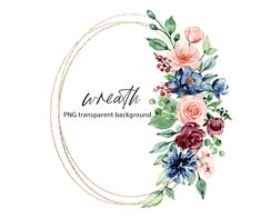 Wreath Watercolor, Watercolor Flowers, Spa Images, Free Advertising, Frame Wreath, Print Templates, Digital Illustration, Weddingideas, Party Invitations