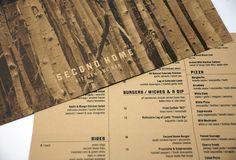Second Home Menu Restaurant Bar Cofe Design Food Restaurant Identity, Restaurant Menu Design, Rustic Restaurant, Restaurant Bar, Drink Menu Design, Food Design, Design Design, Mango Chicken Salads, Cafe Menu