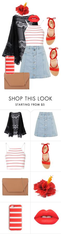 """Summer Days #1"" by musie-della ❤ liked on Polyvore featuring Topshop, Glamorous, Vince Camuto, MaxMara, J.Crew and Lime Crime"