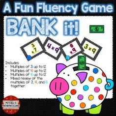 This game will have your students cheering for more while they are practicing their multiplication facts. No one is out so everyone will be involved in the game at all times. You will need some way to project this game via SMART board, Promethium, Computer, Screen or Whiteboard.Concepts covered: Bank it game with just multiples of 3 up to 12 (51 slides) Bank it game with just multiples of 4 up to 12 (51 slides) Bank it game with just multiples of 6 up to 12 (51 slides) Bank it game with…
