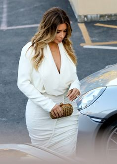 Kim Kardashian blonde.