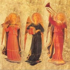 We received the identical Fra Angelico 'Angel Musicians' from two lovely women: Deirdre and Dan's aunt Nellie