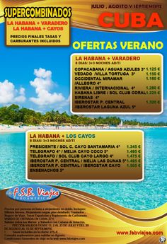 Cuba al 100% Disfruta este verano de los Mejores Combinados Habana-Varadero-Los Cayos - http://zocotours.com/cuba-al-100-disfruta-este-verano-de-los-mejores-combinados-habana-varadero-los-cayos-3/