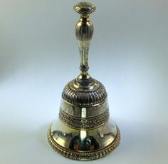 Antique Silver Gilt Table Bell. French 1819-1838. From Peter Szuhay. www.peterszuhay.com