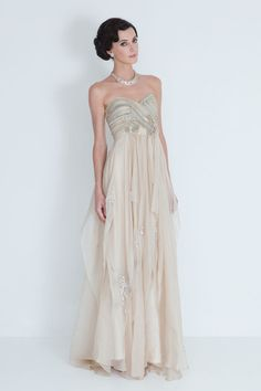 A dreamy wedding dress by Catherine Dean. Love the way the fabric flows!