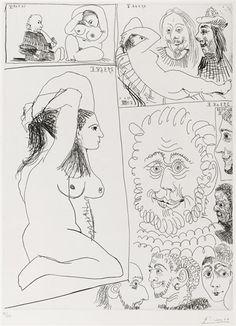 Pablo Picasso - Bande Dessinée Pl. 11 from Séries 347, 1968