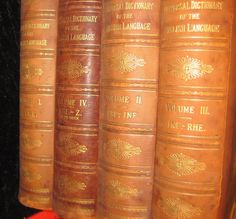 1899 Universal Dictionary of English Language 4 Vol Set Antique Leather Collier