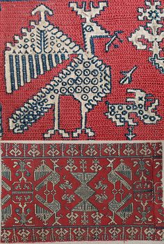 Africa | Antique Moroccan Textile Embroidery; A Strip of Azemmour Furnishing Fabric | Circa 1650