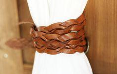 Samuji braided leather belt