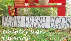 V and Co.: tutorial::how to make a country rustic sign