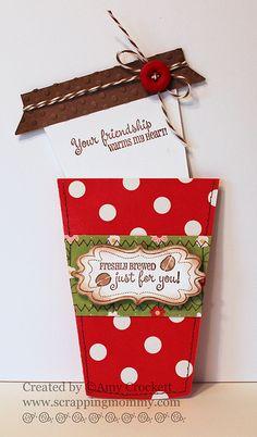 Darling Freshly-Brewed Coffee Card...by Amy Crockett.