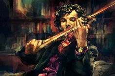 A digital painting by Deviant Art user alicexz. The Sherlock Holmes series was aired on BBC recently and was fantastic. I love how this painting captures the concentration on Sherlock's face. I wonder what he would have been thinking about at the time. You can buy this print on alicexz Deviant Art profile.