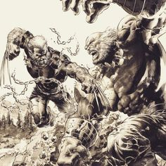 Old Man Logan vs Maestro by Mike Deodato Jr