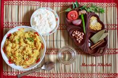 Masala Khichdi is rice and lentil based spicy preparation with the addition of vegetables. It is the spicier version of the plain khichdi and can be easily