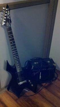 BC RICH WARLOCK 1 and Fender Frontman 15 Watt Electric Guitar Combo