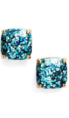 Glitter studs by #katespade - On sale for $24.90 at the #nsale http://www.theperfectpalette.com/2015/07/welcome-to-weekend-friday-link-love_17.html