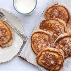 Krabbelurer är en mumsig blandning mellan pannkaka och sockerkaka.